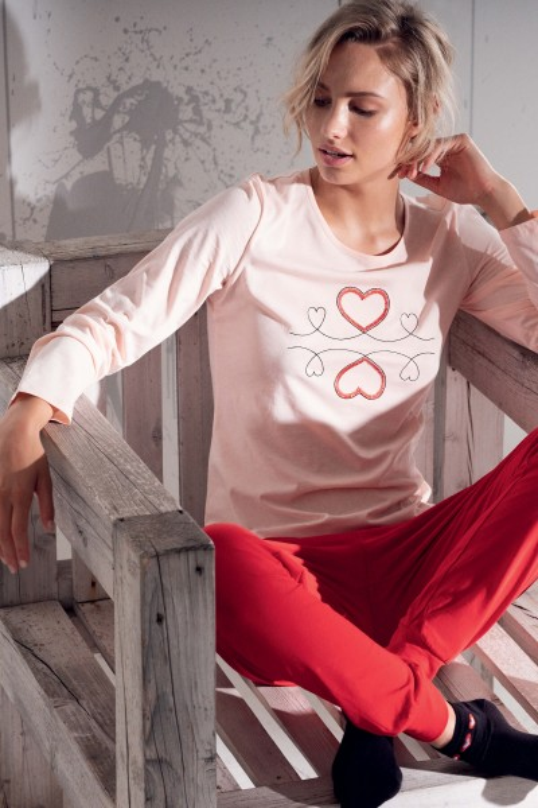 Пижами со долги ракави и долги ногавици »Sweet Love«